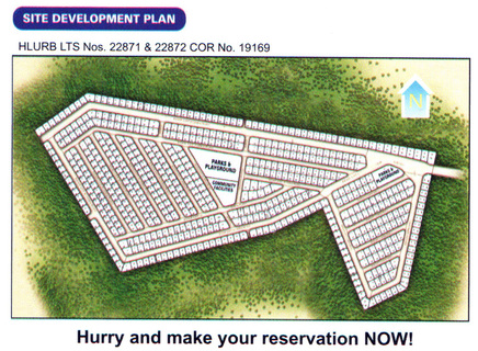 Villa Monte Maria Davao - site development plan. Low cost housing now selling affordable lots in Davao City.