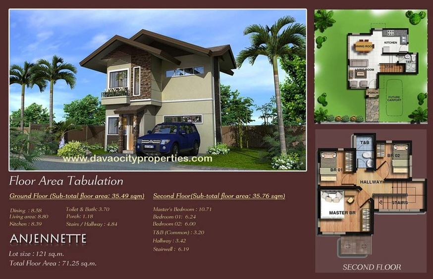 Twin Palms Residences Davao Anjennette House and Lot Package. Davao Houses.