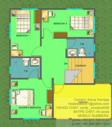 Chula Vista Residences Davao City - Chula Vista Residences House Brisa Monte 2 storey 2nd floor