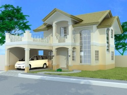 A 2 storey sample house that Grace Park can build for you if you have a lot anywhere here in Davao City. Just contact us for more information.