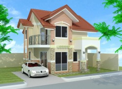 Grace Park can build a house for you if you have a lot anywhere here in Davao City. This is a 2-storey sample house perspective.