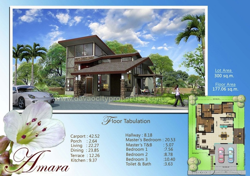 Amiya Residences Davao - Amara house can have 3 bedrooms and 2 toilets and baths. This beautiful Davao house and lot package is located at Amiya Resort Residences Puan, Davao City