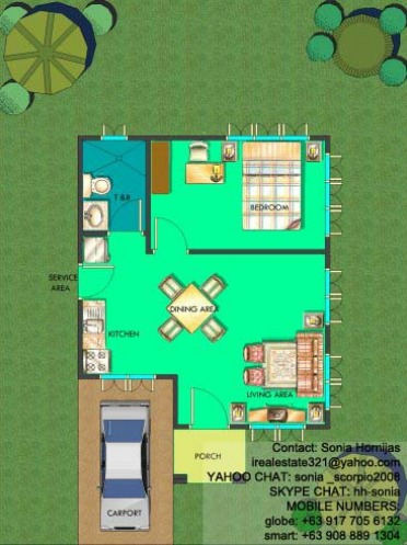 Chula Vista Residences Davao City - Chula Vista Residences House Calma Floor Plan