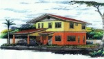 Gloria is a 2 storey house and lot package at Santiago Villas, Davao. This house and lot in Davao has 4 bedrooms and 3 toilets and baths. Can be availed thru Pag-ibig financing.