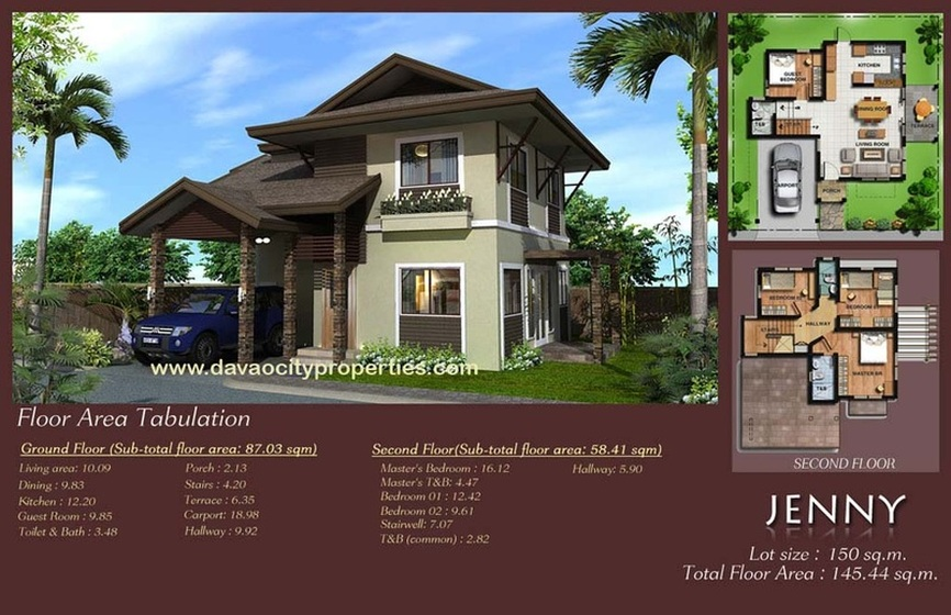 Twin Palms Residences Davao Jenny House and Lot Package. Davao homes.