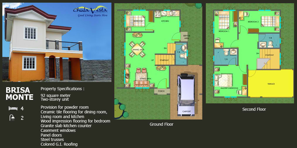 brisa monte house specifications