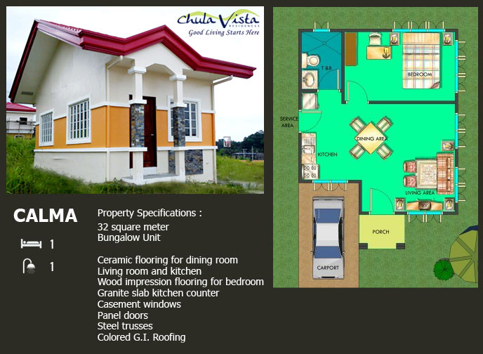calma house specifications