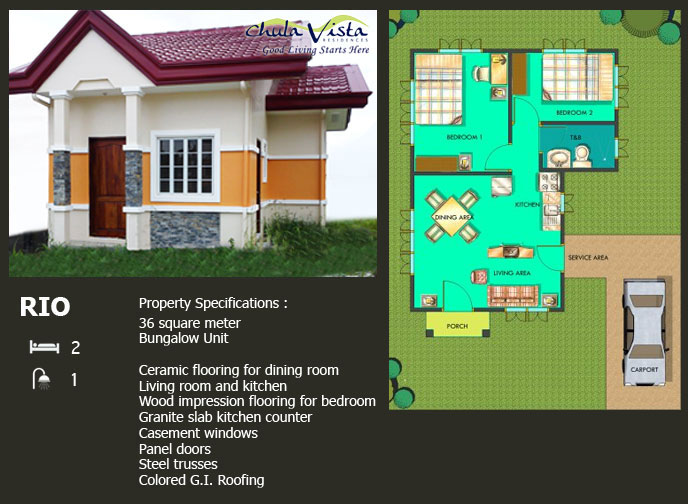 rio house specifications